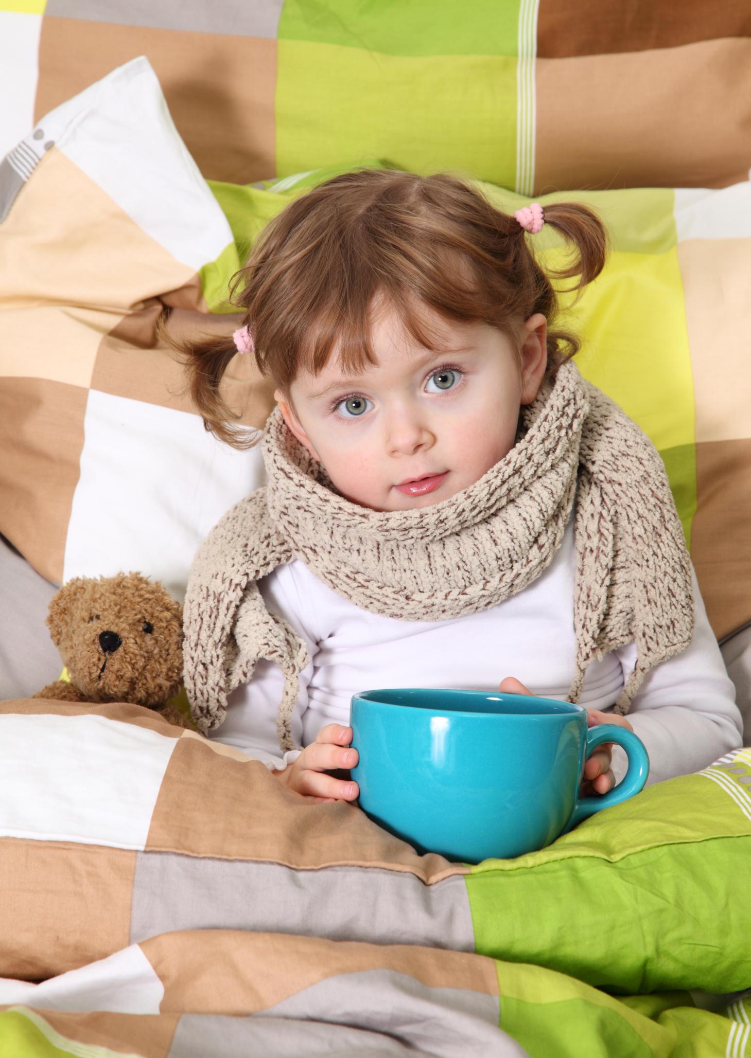 Little girl sick